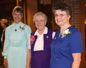 Sisters celebrating anniversaries of their profession of vows